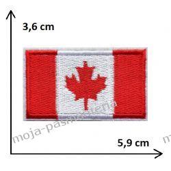 APLIKACJA NAPRASOWANKA - FLAGA KANADA 3,6x5,9 cm Rękodzieło