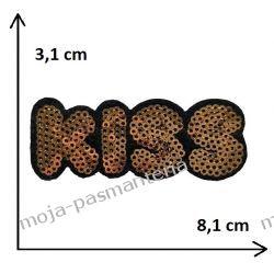 APLIKACJA NAPRASOWANKA TERMO - KISS - 3,1x8,1 cm Aplikacje