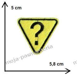Naprasowanka - ZNAK ZAPYTANIA  - 5 x 5,8cm Rękodzieło