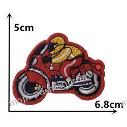 Naprasowanka - MOTOCYKL CZERWONY 5x6,8cm Aplikacje
