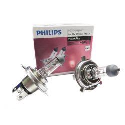 ŻARÓWKI PHILIPS VISION PLUS +60% H4 12V 60/55W P43T