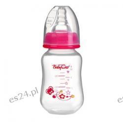 Butelka standardowa antykolkowa 120ml 0+ BabyOno różowa