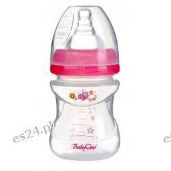Butelka szerokootworowa antykolkowa 120ml 0+ BabyOno różowa