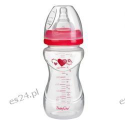 Butelka szerokootworowa antykolkowa 240ml 0+ BabyOno różowa