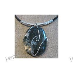 Jaspis zielony - kamień w oplocie
