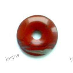 Jaspis czerwony - wisior donat