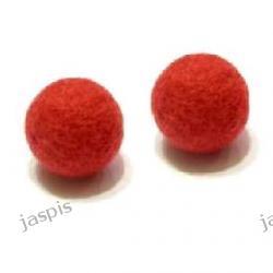 Filc czerwony- kulki 25 mm