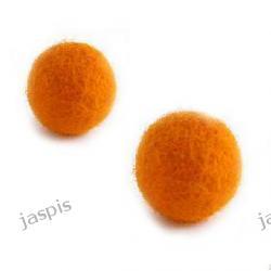 Filc pomarańczowy - kulki 25 mm