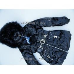 Zimowa kurtka BORUOSS z kapturem i odpinanym futrem