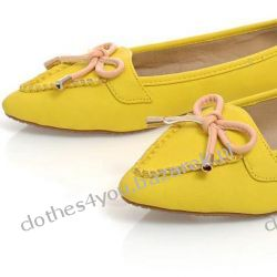 Żółte baleriny z kokardą AXEL -- AXEL CANARY 38