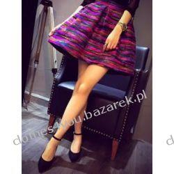 Mini kolorowa wełniana spódnica Tęcza