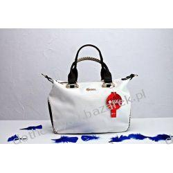 Lux torebka shoperka DOCA do ręki khaki+ biel eco