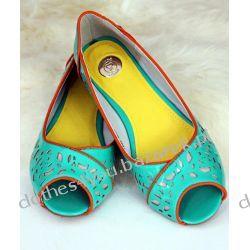 Lux zielone Baleriny Axel eco skóra 38 buty