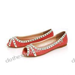 Lux baleriny buty AXEL róż 38 eko skóra open toe