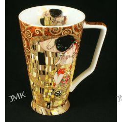 Kubek Klimta kajakowy G.Klimt- The Kiss - brązowe tło