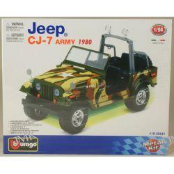 JEEP CJ-7 ARMY 1980 MODEL DO SKŁADANIA SKALA 1/24 Samochody i pojazdy