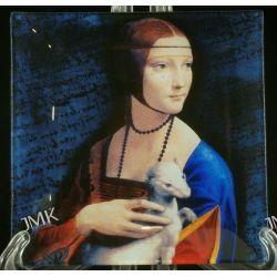 Talerz dekoracyjny -L. Da Vinci - Dama z łasiczką CARMANI  Filiżanki