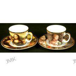 Kpl. 2 filiżanek mocca - L.Da Vinci - Mona Lisa/Dama z łasiczką Kubki