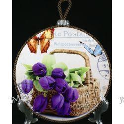 Podstawka porcelanowa z korkiem Tulipan 20cm Filiżanki