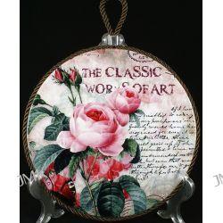 Podstawka porcelanowa z korkiem Róże 20cm Kubki