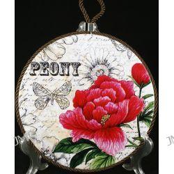 Podstawka porcelanowa z korkiem Peonia 20cm Obrusy, serwetki, podkładki