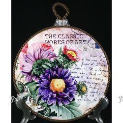 Podstawka porcelanowa z korkiem Kwiaty 20cm Kubki