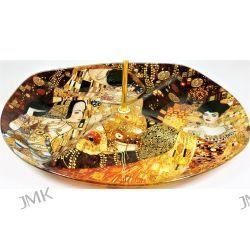 Patera szklana G. Klimt The Kiss Adele Oczekiwanie Filiżanki