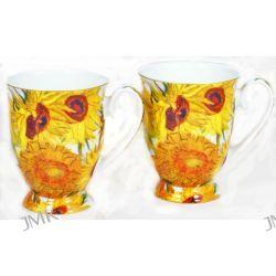 Kubki w sercu - 2 kubki prezentowe - Słoneczniki Van Gogha