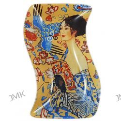 Talerz dekoracyjny -Gustav Klimt - Lady With fan Dom i Ogród