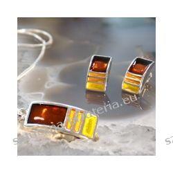 Komplet biżuterii z kolczykami, kolorystyka bursztynowa