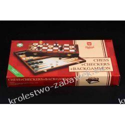 Szachy turystyczne + warcaby + backgammon 27cm