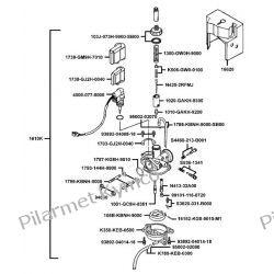 Oryginalny gaźnik kompletny PB+automat ssania do skuterów KYMCO VITALITY 50 2T. Owiewki