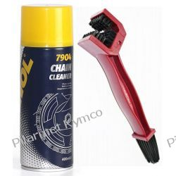 Zestaw do czyszczenia łańcuchów-szczotka+preparat Mannol Chain Cleaner. Środki czyszczące i kosmetyki