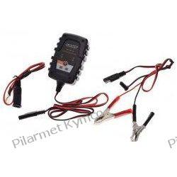 Prostownik - ładowarka marki UNIT RK1000 do akumulatorów 6V/12V. Stopki