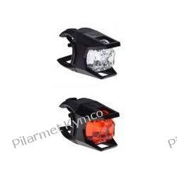 Lampki rowerowe przód/tył 2 led kpl. Linki i pancerze