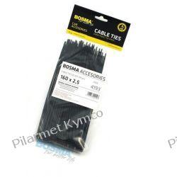 Opaska zaciskowa (trytytka) 2.5 x 160mm czarna (100szt.). Motoryzacja