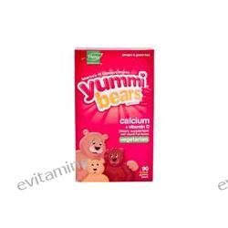 Hero Nutritional Products, Yummi Bears Vegetarian Calcium with Vitamin D, Natural Fruit Flavors, 90 Sour Gummy Bears