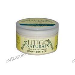 Hugo Naturals, Cucumber & Geranium Body Butter, 4 oz (113 g)