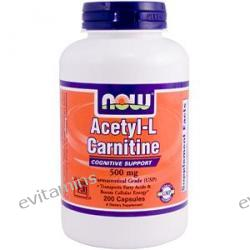 Now Foods, Acetyl-L Carnitine, 500 mg, 200 Capsules