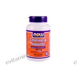 Now Foods, Choline & Inositol, 500 mg, 100 Capsules