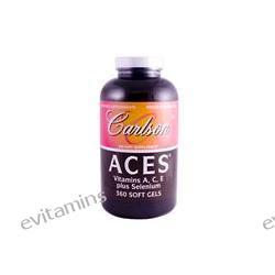 Carlson Labs, ACES, Vitamin A, C, E Plus Selenium, 360 Soft Gels