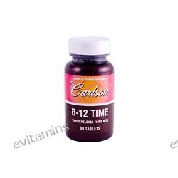 Carlson Labs, B-12 Time, Timed-Release, 1000 mcg, 90 Tablets