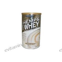 Country Life, BioChem, 100% Hemp & Whey Powder, Vanilla, 12.2 oz (348 g)