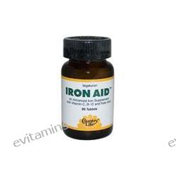 Country Life, Iron Aid, 90 Tablets