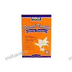Now Foods, French Vanilla Stevia Extract, 100 Packets