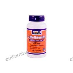 Now Foods, L-Methionine with Vitamin B-6, 500 mg, 100 Capsules