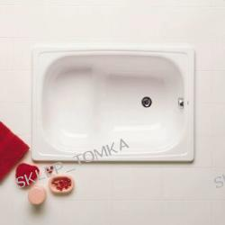Wanna stalowa Roca Contesa 100x70cm z siedziskiem kolor
