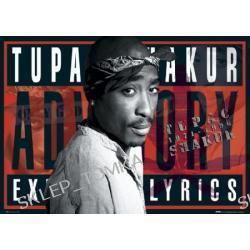 Plakat Tupac - Parental advisory