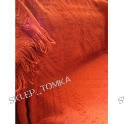 Komplet narzut na łóżko 170x205 i fotele 65x170cm brązowy terakota