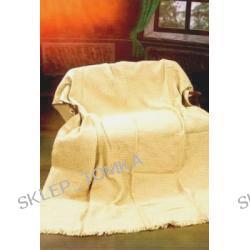 Komplet 3 narzut na łożko 170x205cm i fotele, Kremowy